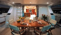 Yacht GEORGIA ROSE -  Aft Deck Dining